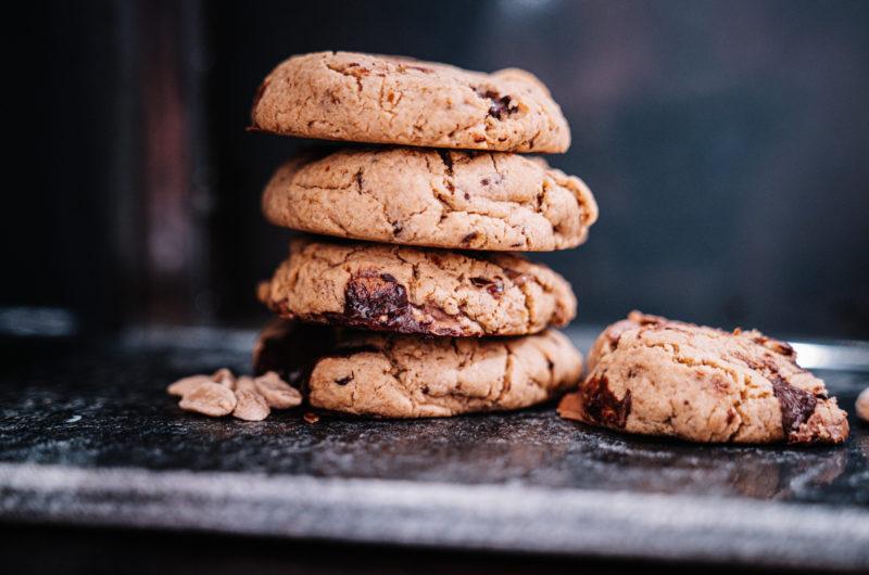 Glutenfria kakor med choklad och jordnötssmör